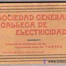 Postales: CORUÑA. SOCIEDAD GENERAL GALLEGA DE ELECTRICIDAD. ED ELIAS DIEZ 19 POSTALES. OBRA DEL TAMBRE.. Lote 52689490