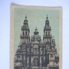 Postales: POSTAL SANTIAGO DE COMPOSTELA - CATEDRAL - PUBLICIDAD SOLUCION PAUTAUBERGE. Lote 52923967