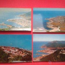Postales: LOTE DE 4 POSTALES DE LA GUARDIA. PONTEVEDRA. AÑOS 60 Y 70.. Lote 53238831