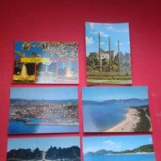 Postales: LOTE DE 6 POSTALES DE VIGO. PONTEVEDRA. AÑOS 70.. Lote 53335920