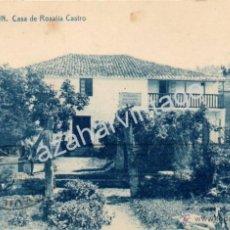 Postales: PADRON (LA CORUÑA) CASA DE ROSALIA DE CASTRO, 11 EDICION BAZAR BUELA, EDICIÓN THOMAS. Lote 53356858