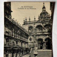 Cartes Postales: POSTAL DE SANTIAGO DE COMPOSTELA: FACHADA DE LAS PLATERIAS. Lote 54105519
