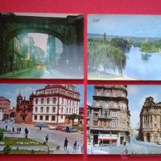 Postales: LOTE DE 4 POSTALES DE LUGO. AÑOS 70.. Lote 54322170