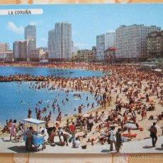 Postales: 52 SPAIN ESPAÑA ESPAGNE GALICIA LA CORUÑA PLAYA PLAGE BEACH DE RIAZOR. Lote 54453528