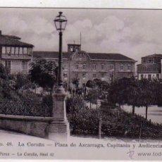 Postales: Nº 48 LA CORUÑA. PLAZA DE AZCARRAGA, CAPITANIA Y AUDIENCIA. LIBRERIA DE LINO PEREZ. FOT SELLER. Lote 54506454