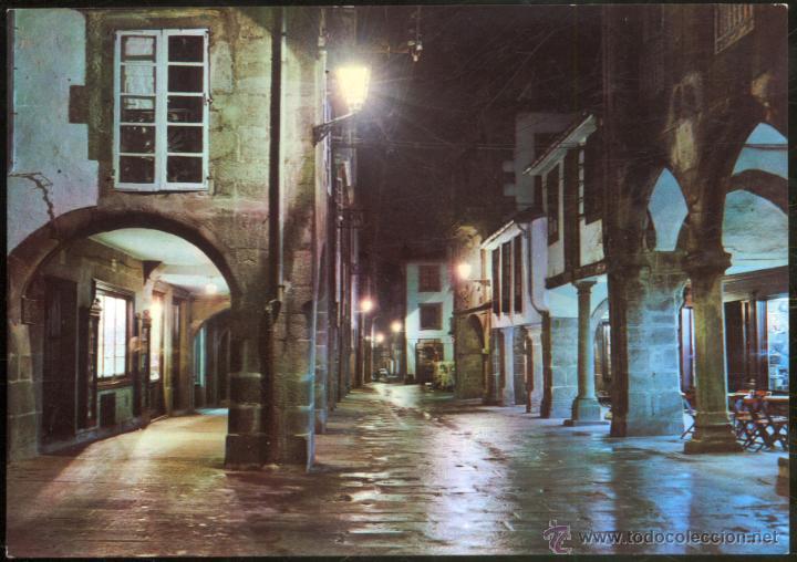 2057 - SANTIAGO DE COMPOSTELA.- RUA DEL VILLAR. NOCTURNA (Postales - España - Galicia Moderna (desde 1940))