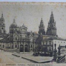 Postales: SANTIAGO DE COMPOSTELA. CATEDRAL, FACHADA DE LA AZABACHERÍA. CIRCULADA AÑO 1950. Lote 54744400