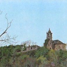 Postales: PUENTEDEUME. A CORUÑA. COLEGIATA DESDE RIO EUME. 1980.. Lote 54758657