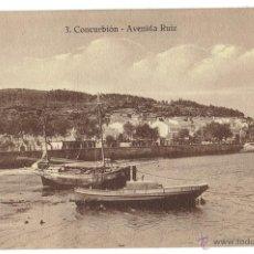 Postales: PS6097 CORCUBIÓN 'AVENIDA RUIZ'. FOTO TANARRO. SIN CIRCULAR. PRINC. S. XX. Lote 52549710