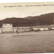 Postales: PS6104 CORCUBIÓN 'BRENS - VISTA DE LOS HORNOS. FÁBRICA CARBUROS'. TANARRO. PRINC. S. XX. Lote 52550559