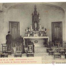 Postales: PS5949 BALNEARIO DE LA TOJA 'INTERIOR DE LA CAPILLA DE NTA. SRA. DEL CARMEN'. SIN CIRCULAR. Lote 51595355