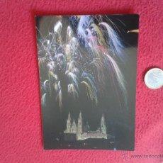 Postales: POSTAL POSTCARD GALICIA LA A CORUÑA VER FOTO SANTIAGO DE COMPOSTELA FUEGOS ARTIFICIALES SOBRE LA CAT. Lote 55057833