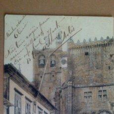 Postales: TUY, PONTEVEDRA, PLAZA CONSISTORIAL. EDITOR E.J.O PARIS IRUN, EL GALLO. POSTAL SIN DIVIDIR. Lote 55103292