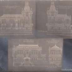 Postales: CORUÑA - CHALE ESCUDERO PALACETE DE JUAN FLOREZ - PLANOS DE 1913 DE RODRIGUEZ LOSADA. Lote 55111060
