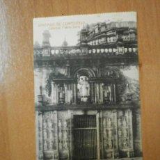 Postales: POSTAL SANTIAGO DE COMPOSTELA CATEDRAL PUERTA SANTA CIRCULADA. Lote 55304396