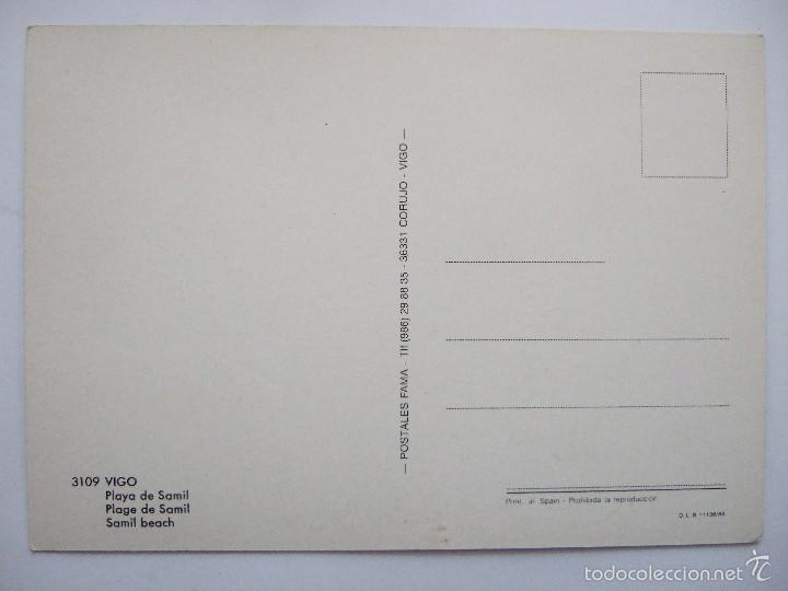 Postales: POSTAL PONTEVEDRA -VIGO - PLAYA DE SAMIL - 1988 - FAMA 3109 - SIN CIRCULAR - Foto 2 - 55328935