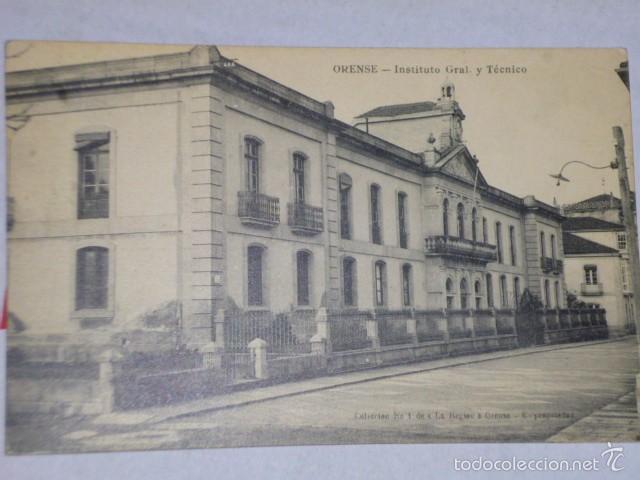 ORENSE.- INSTITUTO GRL. Y TÉCNICO (Postales - España - Galicia Antigua (hasta 1939))