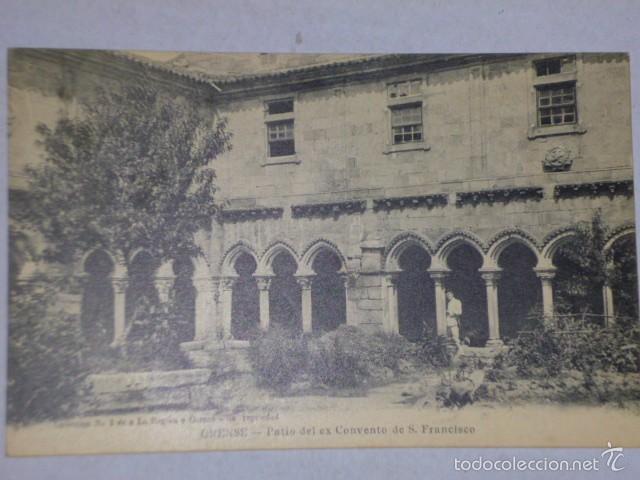 ORENSE.- PATIO DE EX CONVENTO DE S. FRANCISCO (Postales - España - Galicia Antigua (hasta 1939))