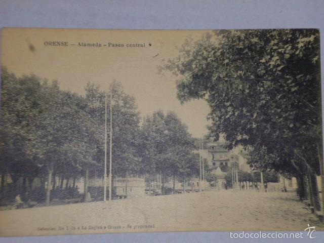 ORENSE.- ALAMEDA - PASEO CENTRAL- (Postales - España - Galicia Antigua (hasta 1939))
