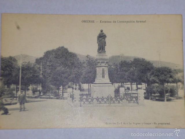 ORENSE.-ESTATUA DE CONCEPCIÓN ARENAL (Postales - España - Galicia Antigua (hasta 1939))