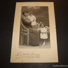 Postales: LA CORUÑA 1914 RETRATO DE MADRE E HIJOS PORTELA HERMANOS FOTOGRAFO POSTAL FOTOGRAFICA. Lote 55532642