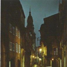 Postales: ** Z1405 - POSTAL - SANTIAGO DE COMPOSTELA - RUA DEL VILLAR - NOCTURNA. Lote 55703328