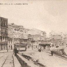 Postales: LA CORUÑA: CALLE DE LINARES RIVAS E. COMAS SIN CIRCULAR. Lote 55774912
