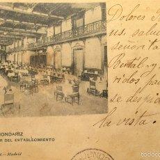 Postales: AGUAS DE MONDARIZ- COMEDOR DEL ESTABLECIMIENTO - 410 HAUSER Y MENET,SIN DIVIDIR. Lote 55865567