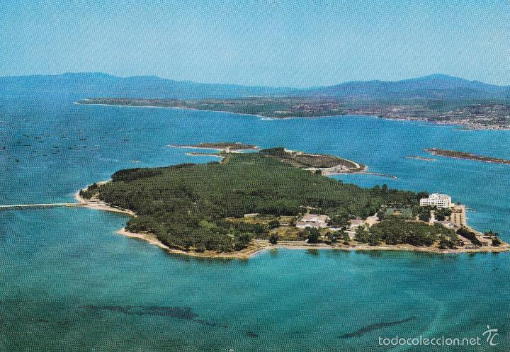 LA TOJA Nº 478 ISLA DE ENSUEÑO VISTA AEREA SIN CIRCULAR EDICIONES ALARDE (Postales - España - Galicia Moderna (desde 1940))