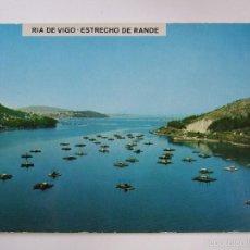 Postales: POSTAL PONTEVEDRA - RIA DE VIGO - ESTRECHO DE RANDE - 1971 - FAMA 3164 - SIN CIRCULAR. Lote 56551569