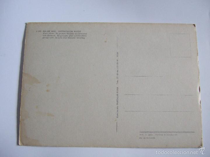 Postales: POSTAL PONTEVEDRA - RIA DE VIGO - ESTRECHO DE RANDE - 1971 - FAMA 3164 - SIN CIRCULAR - Foto 2 - 56551569