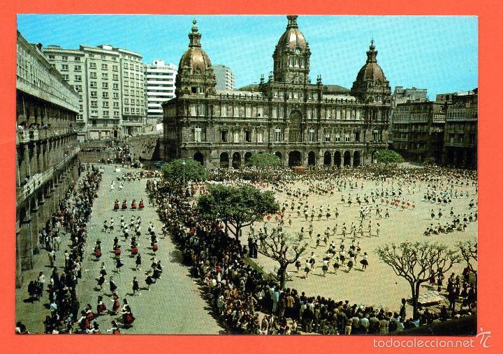 CORUÑA - AYUNTAMIENTO - PLAZA DE MARIA PITA (Postales - España - Galicia Moderna (desde 1940))