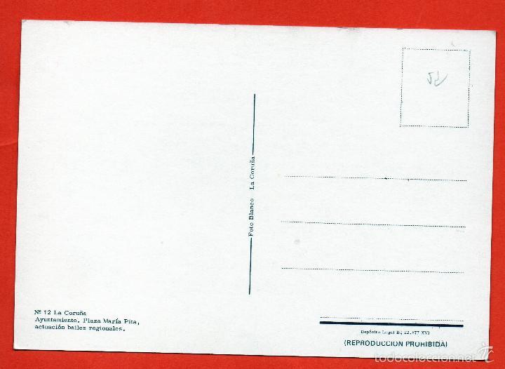 Postales: CORUÑA - AYUNTAMIENTO - PLAZA DE MARIA PITA - Foto 2 - 56663295