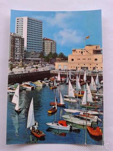 POSTAL -- VIGO - DARSENA DEL REAL CLUB NAUTICO -- PONTEVEDRA - GALICIA -- USADA -- (Postales - España - Galicia Moderna (desde 1940))