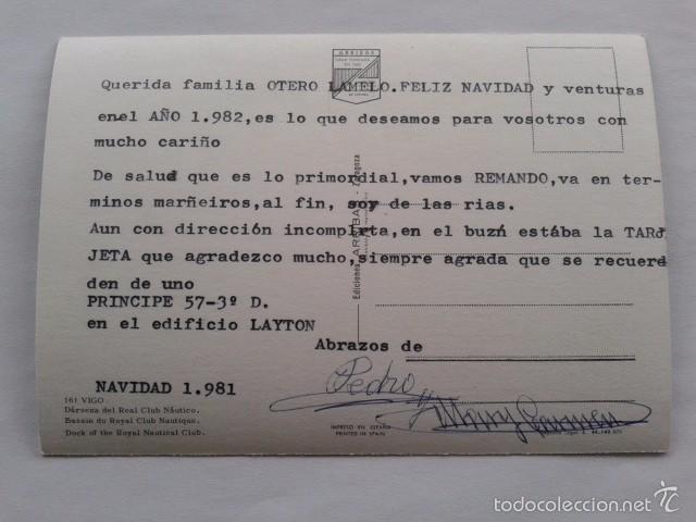 Postales: POSTAL -- VIGO - DARSENA DEL REAL CLUB NAUTICO -- PONTEVEDRA - GALICIA -- USADA -- - Foto 2 - 56850134