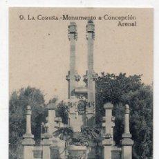 Postales: LA CORUÑA. MONUMENTO A CONCEPCIÓN ARENAL. . Lote 57368782