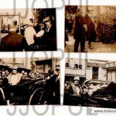 Postales: 10 FOTOS DEL REY ALFONSO XIII Y LA REINA EN CORUÑA PARA INAUGURAR FERROCARRIL .1927. VILLAR. . Lote 57547960