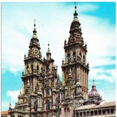 Postales: SANTIAGO DE COMPOSTELA CATEDRAL FACHADA OBRADOIRO. Lote 57723267
