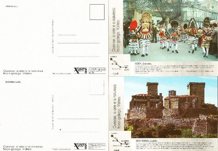 2 POSTALES DE VERIN ANTIGUAS - PLANOS (Postales - España - Galicia Moderna (desde 1940))