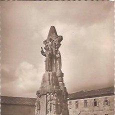 Postales: ANTIGUA POSTAL 30 SANTIAGO DE COMPOSTELA MONUMENTO A SAN FRANCISCO DE ASIS EDICIONES LUJO. Lote 58010747