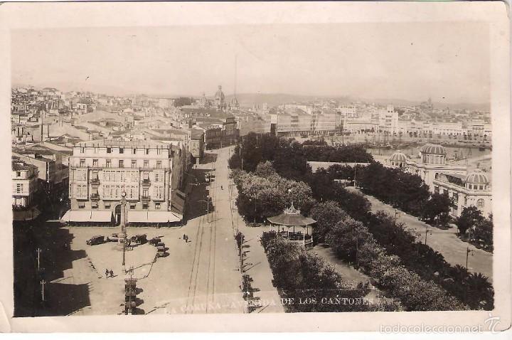 POSTAL DE LA CORUÑA: AVENIDA DE LOS CANTONES (Postales - España - Galicia Moderna (desde 1940))