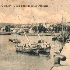 Postales: LA CORUÑA - VISTA PARCIAL DE LA DARSENA - GRAFOS Nº32. Lote 58182807