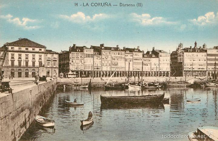 LA CORUÑA - DARSENA - ZINCKE Nº14 (Postales - España - Galicia Antigua (hasta 1939))