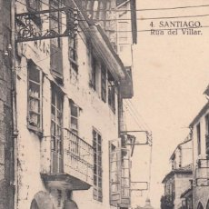 Postales: SANTIAGO DE COMPOSTELA (A CORUÑA) RUA DEL VILLAR. POSTAL BLANCO Y NEGRO, SIN CIRCULAR, C. 1930 (?).. Lote 58329813