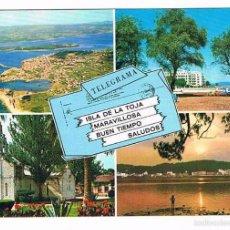 Postales: POSTAL ANTIGUA PONTEVEDRA SIN CIRCULAR ISLA DE LA TOJA. Lote 58678255