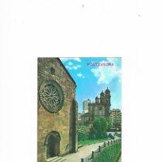 Postales: POSTAL ANTIGUA PONTEVEDRA SIN CIRCULAR SAN FRANCISCO Y LA PEREGRINA. Lote 58724866