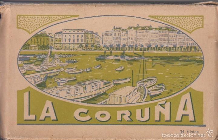 BLOC DE POSTALES LA CORUÑA - ROISIN AÑOS 40 - CON CENSURAS - 34 VISTAS (Postales - España - Galicia Moderna (desde 1940))