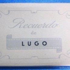 Postales: RECUERDO DE LUGO. BLOC CON 10 POSTALES FOTOGRÁFICAS. EDICIONES AISA. Lote 60754145