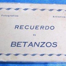 Postales: RECUERDO DE BETANZOS. FOTOGRAFÍAS ARTÍSTICAS. EDICIONES ARRIBAS. BLOC CON 10 POSTALES. Lote 59413080
