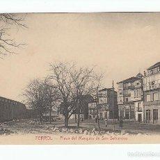 Cartes Postales: FERROL (CORUÑA).- PLAZA DEL MARQUÉS DE SAN SATURNINO. Lote 60097955
